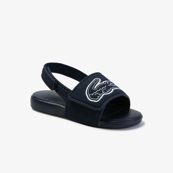 Lacoste L.30 Strap 1201 Cui Çocuk Lacivert - Beyaz Sandalet