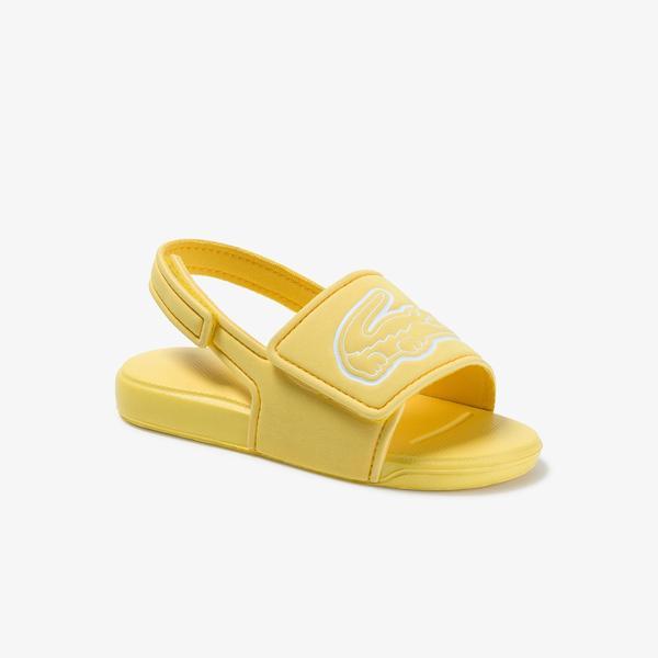 Lacoste L.30 Strap 1201 Cui Çocuk Sarı - Beyaz Sandalet