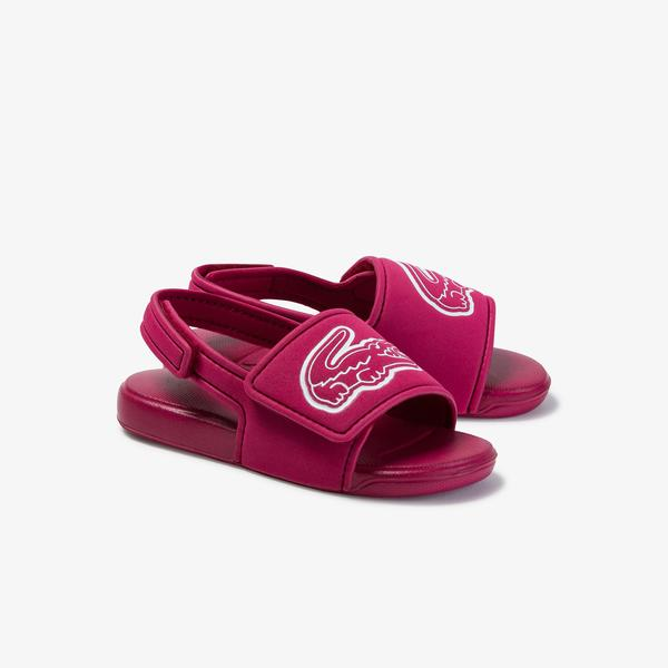 Lacoste L.30 Strap 1201 Cui Çocuk Koyu Pembe - Beyaz Sandalet