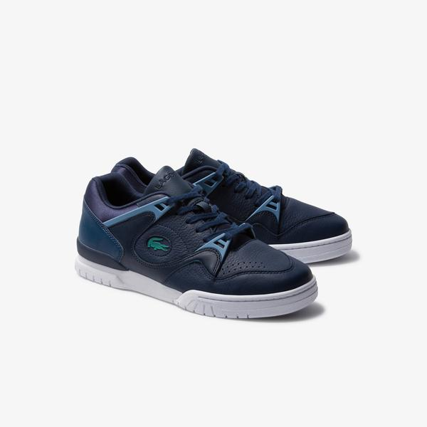 Lacoste Courtpoint 120 1 Sma Erkek Lacivert - Açık Mavi Deri Sneaker