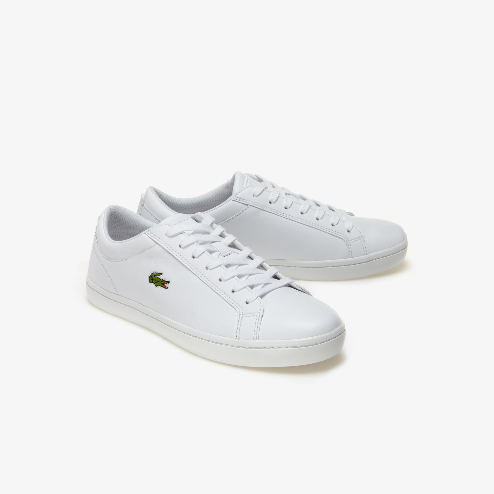 Lacoste Straightset Bl 1 Cam Erkek Beyaz Deri Casual Ayakkabı