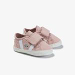 Lacoste Sideline Crib 120 1 Cub Bebek Pudra - Beyaz Sneaker