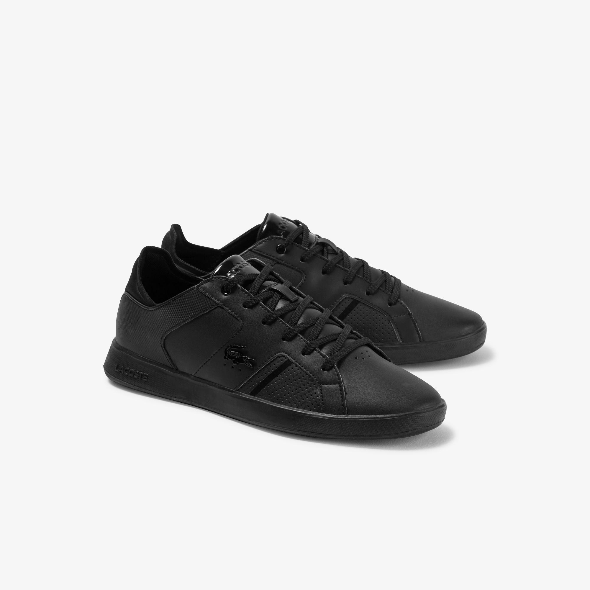 Lacoste Novas 120 3 Sma Erkek Siyah Deri Sneaker