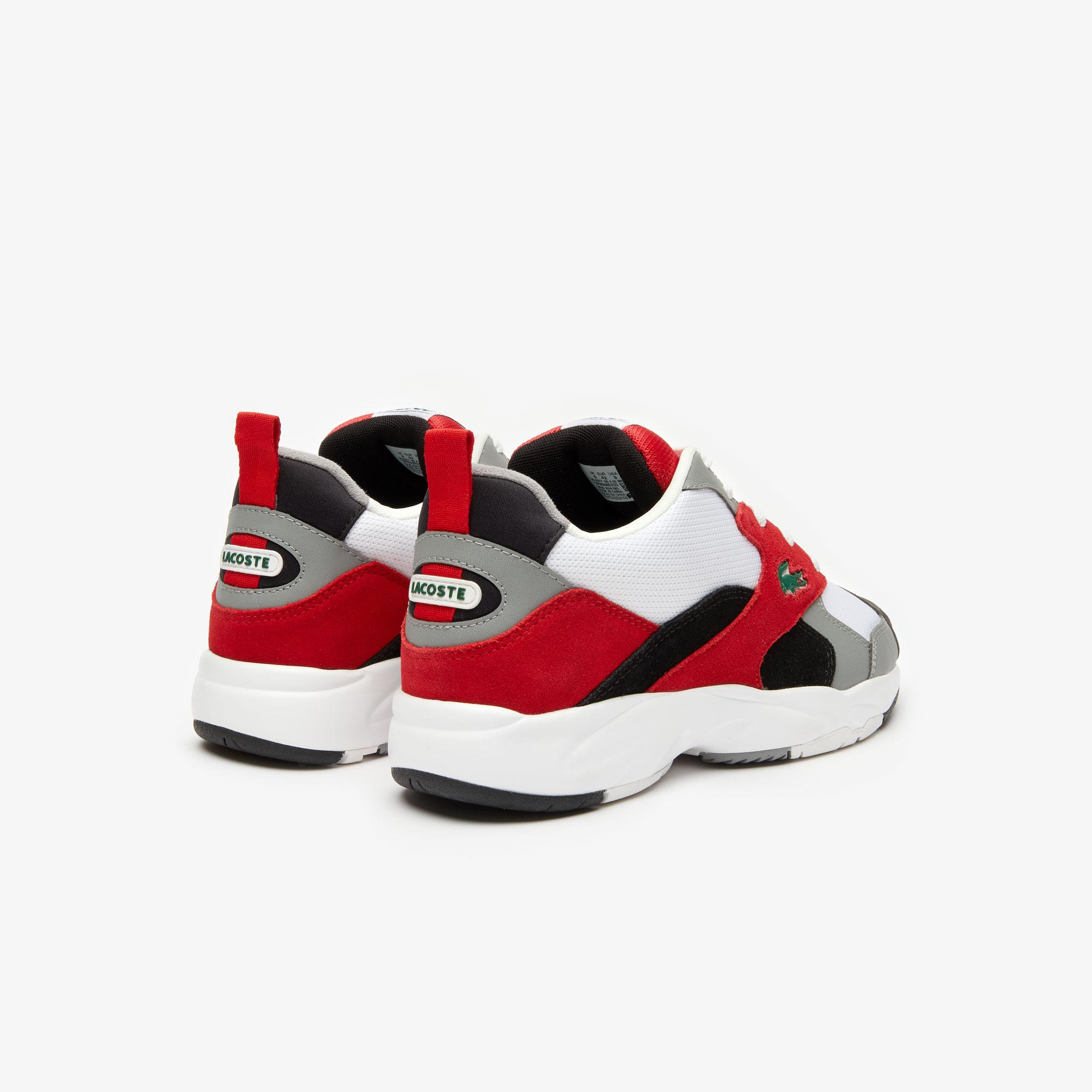 Lacoste Storm 96 120 4 Us Sma Erkek Gri - Kırmızı Sneaker