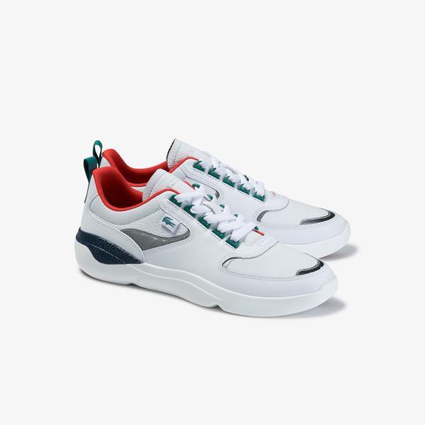 Lacoste Wildcard 120 3 Sma Erkek Beyaz - Lacivert Deri Sneaker
