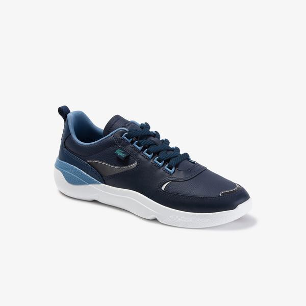 Lacoste Wildcard 120 3 Sma Erkek Lacivert - Açık Mavi Deri Sneaker