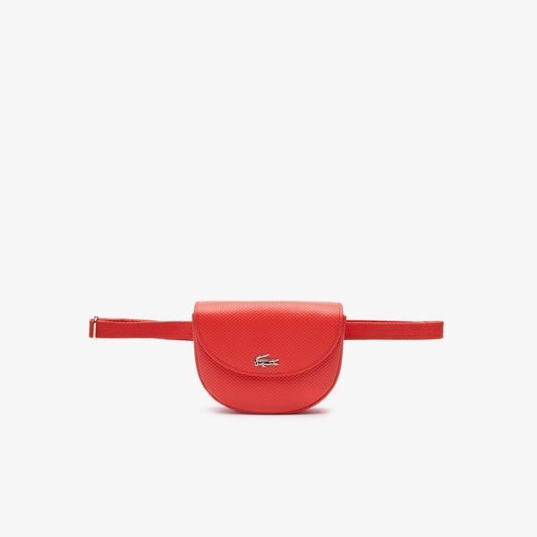 Lacoste Chantaco Kırmızı Deri Bel Çantası