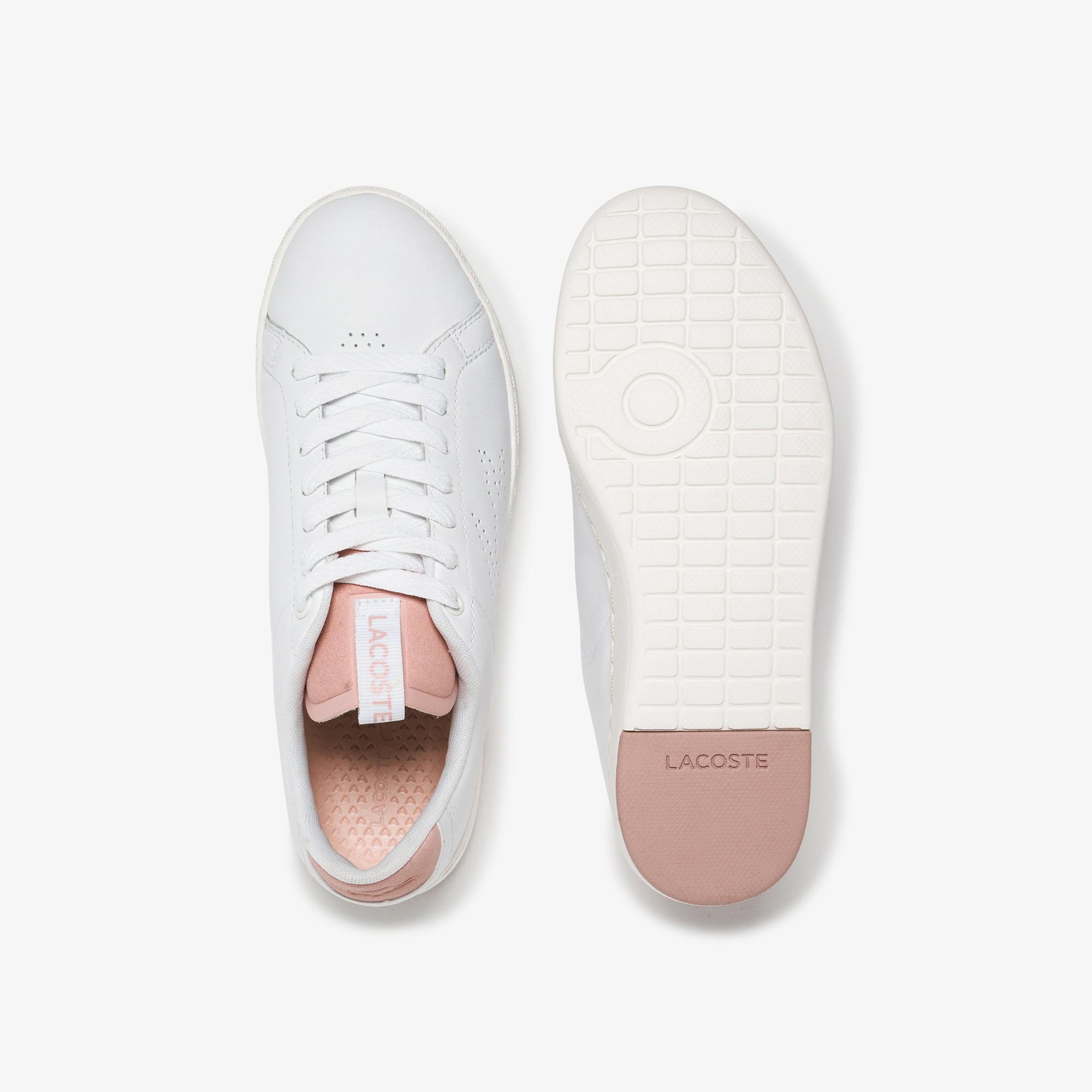 Lacoste Carnaby Evo Light-Wt 1201 Kadın Beyaz - Pudra Deri Sneaker