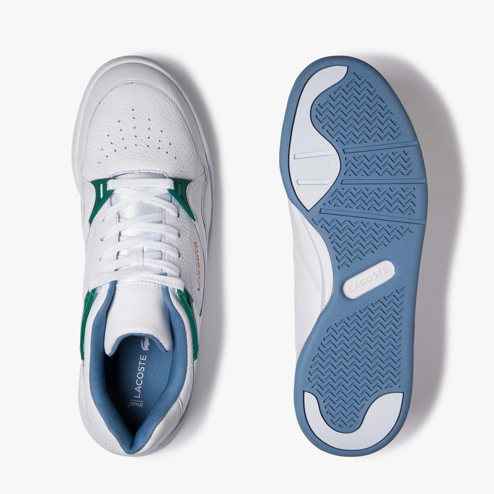 Lacoste Court Slam 120 2 Sma Erkek Beyaz - Yeşil Deri Sneaker
