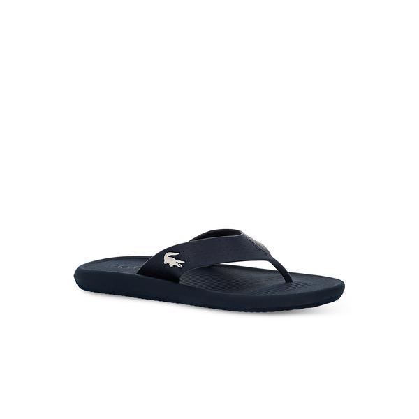 Lacoste Croco Sandal 219 1 Cma Erkek Lacivert - Beyaz Terlik