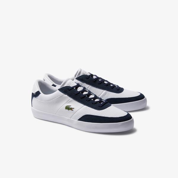 Lacoste Court-Master 120 3 Cma Erkek Beyaz - Lacivert Deri Casual Ayakkabı