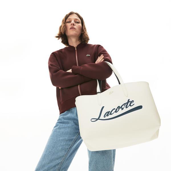 Lacoste Anna Fantaisie Krem - Koyu Mavi  Alışveriş Çantası