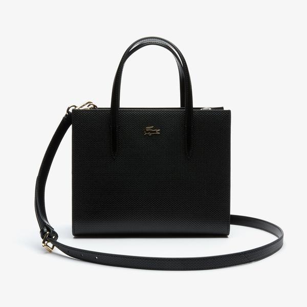Lacoste Kadın Siyah Deri Çanta