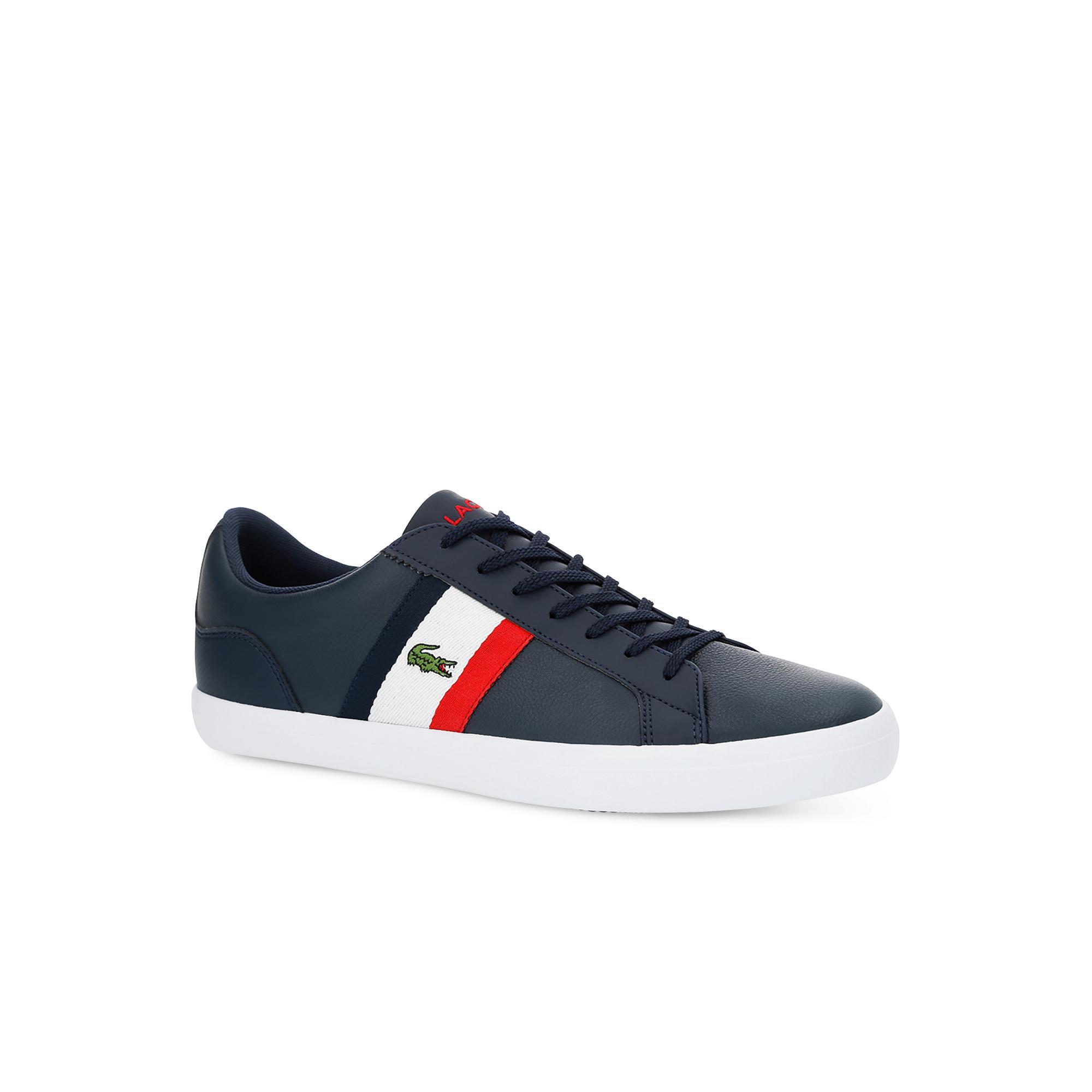 Lacoste Erkek Lacivert - Beyaz - Kırmızı Lerond 119 3 Casual Ayakkabı