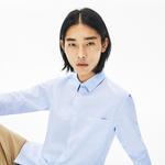Lacoste Erkek Regular Fit Düğmeli Yaka Açık Mavi Gömlek