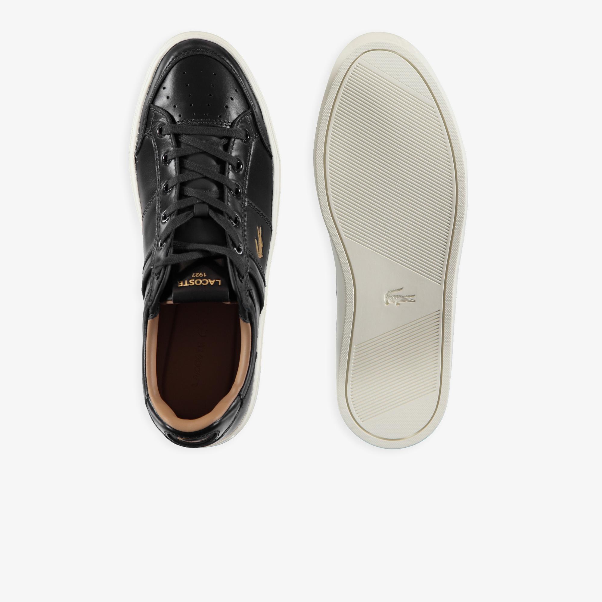 Lacoste Courtline 120 1 Us Cma Erkek Lacivert - Beyaz Deri Casual Ayakkabı