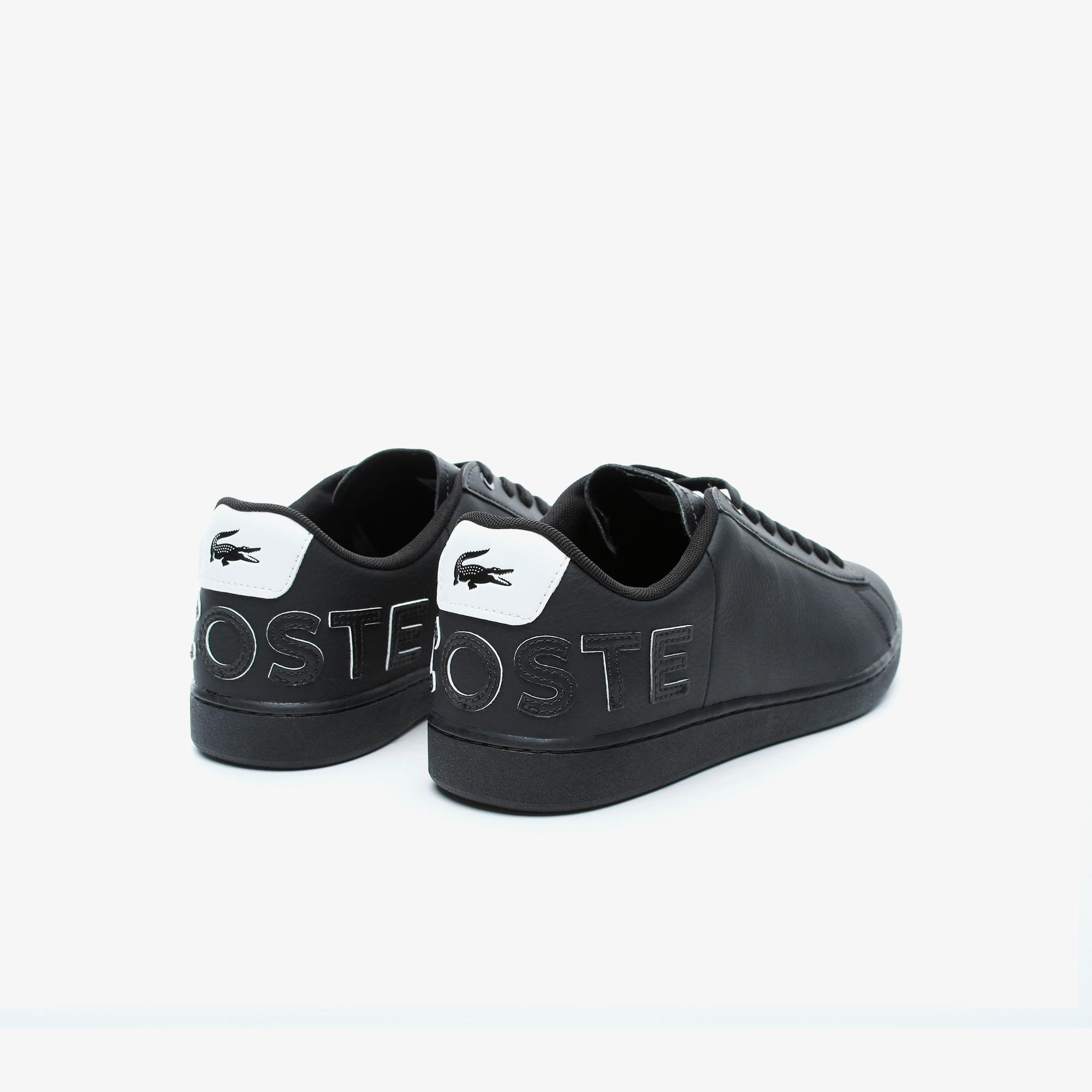 Lacoste Carnaby Evo 120 7 Us Sma Erkek Siyah Deri Sneaker