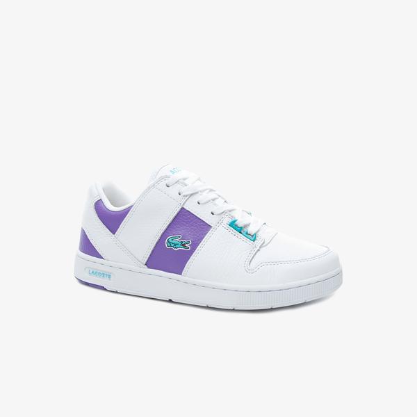 Lacoste Thrill 419 1 Qsp Sfa Kadın Beyaz - Mor Sneaker