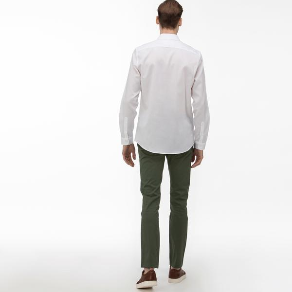 Lacoste Erkek Slim Fit Baskılı Haki Pantolon