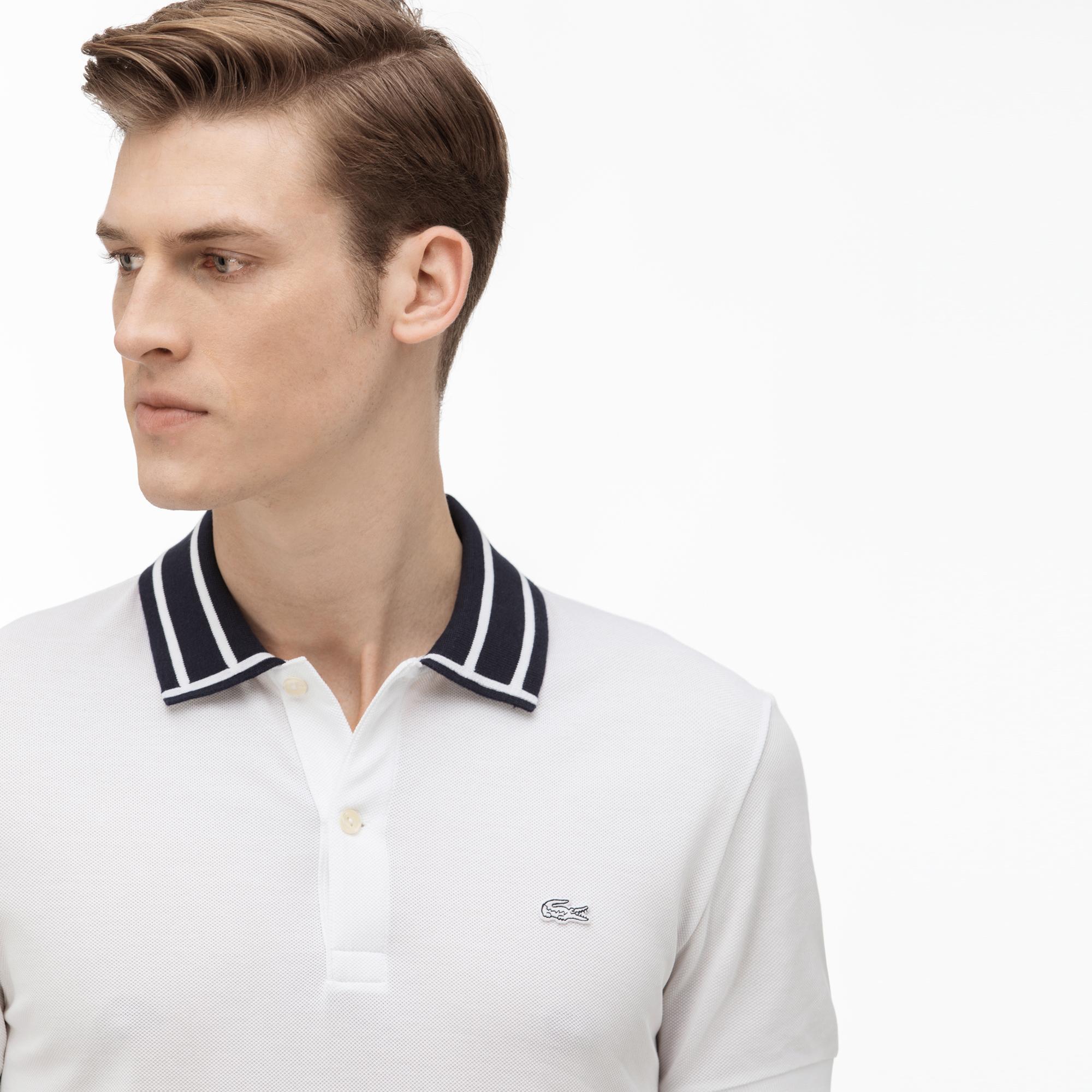 Lacoste Erkek Slim Fit Beyaz Polo