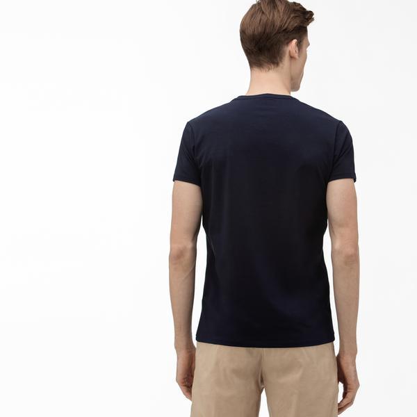 Lacoste Erkek V Yaka Lacivert T-Shirt