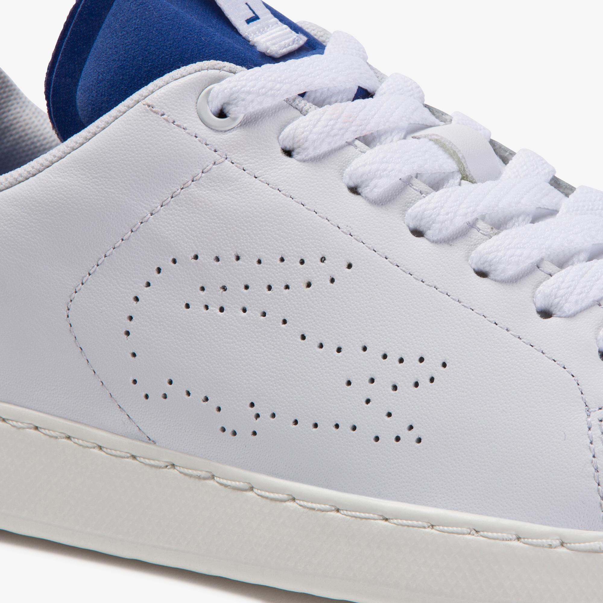 Lacoste Carnaby Evo Light-Wt 1201 Kadın Beyaz - Mavi Deri Sneaker