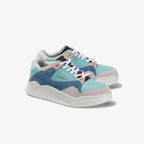 Lacoste Court Slam 120 4 Us Sfa Kadın Açık Yeşil - Beyaz Deri Sneaker