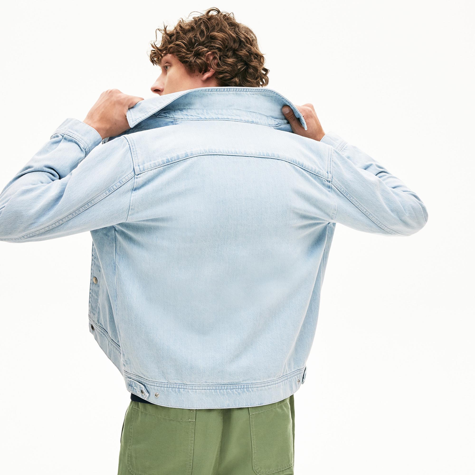 Lacoste Erkek Denim Mavi Ceket
