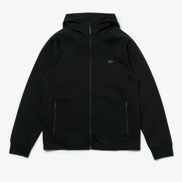 Lacoste Erkek Siyah Kapüşonlu Sweatshirt