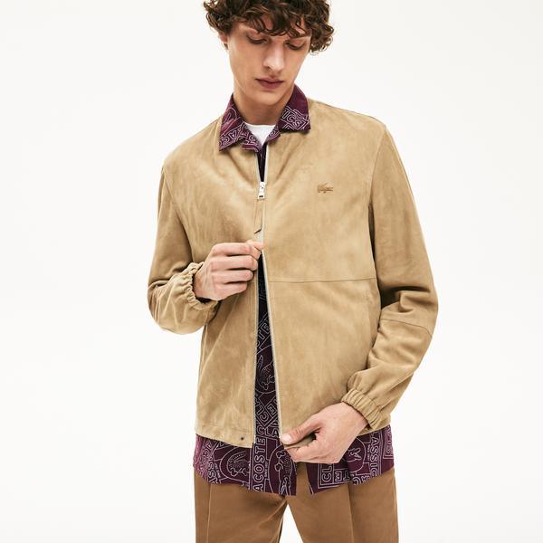 Lacoste Erkek Bej Deri Ceket