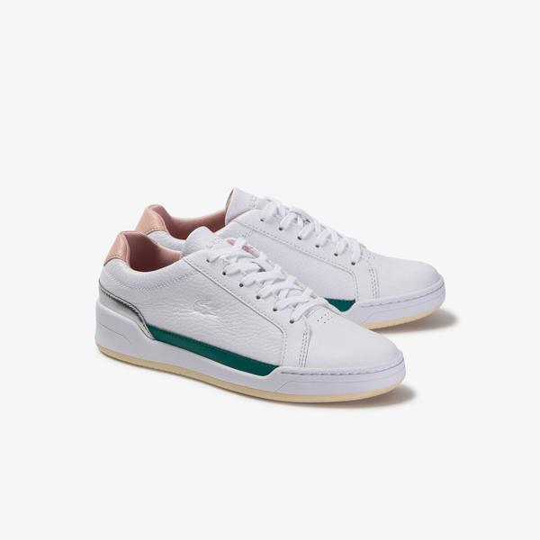 Lacoste Challenge 120 3 Sfa Kadın Beyaz - Pudra Deri Sneaker