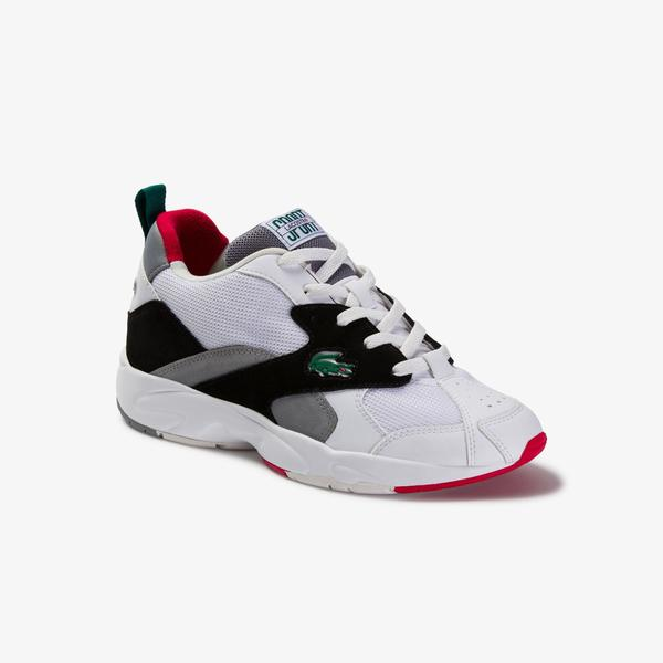 Lacoste Storm 96 120 4 Us Sma Erkek Beyaz - Siyah Sneaker