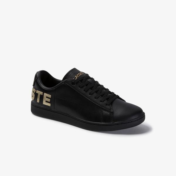 Lacoste Carnaby Evo 120 6 Us Sfa Kadın Siyah Deri Sneaker