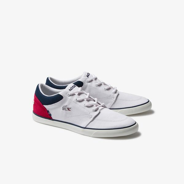 Lacoste Erkek Beyaz - Kırmızı - Lacivert Ayakkabı