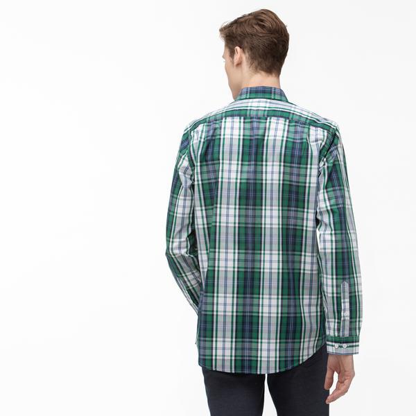 Lacoste Erkek Regular Fit Düğmeli Yaka Ekose Desenli Renkli Gömlek