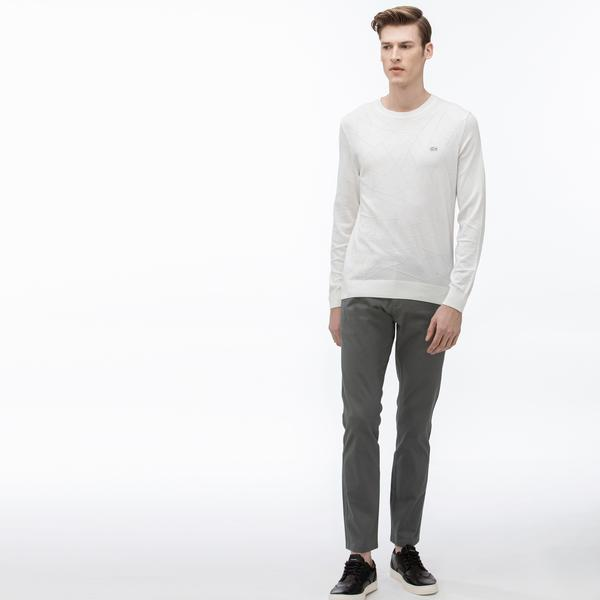 Lacoste Erkek Slim Fit Baskılı Gri Pantolon