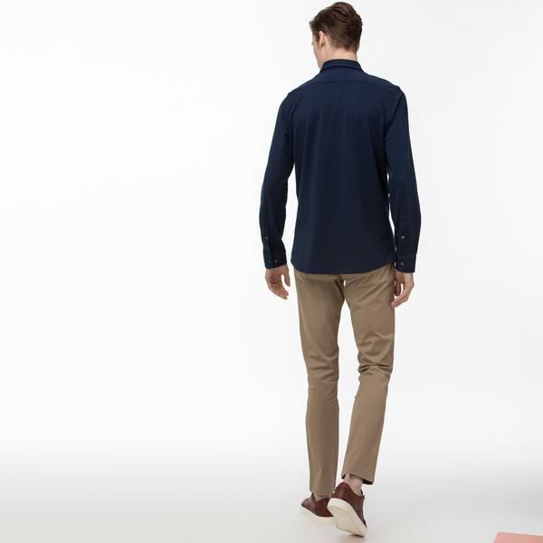 Lacoste Erkek Slim Fit Baskılı Açık Kahverengi Pantolon