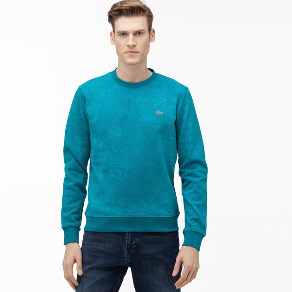 Lacoste Motion Erkek Bisiklet Yaka Mavi Sweatshirt
