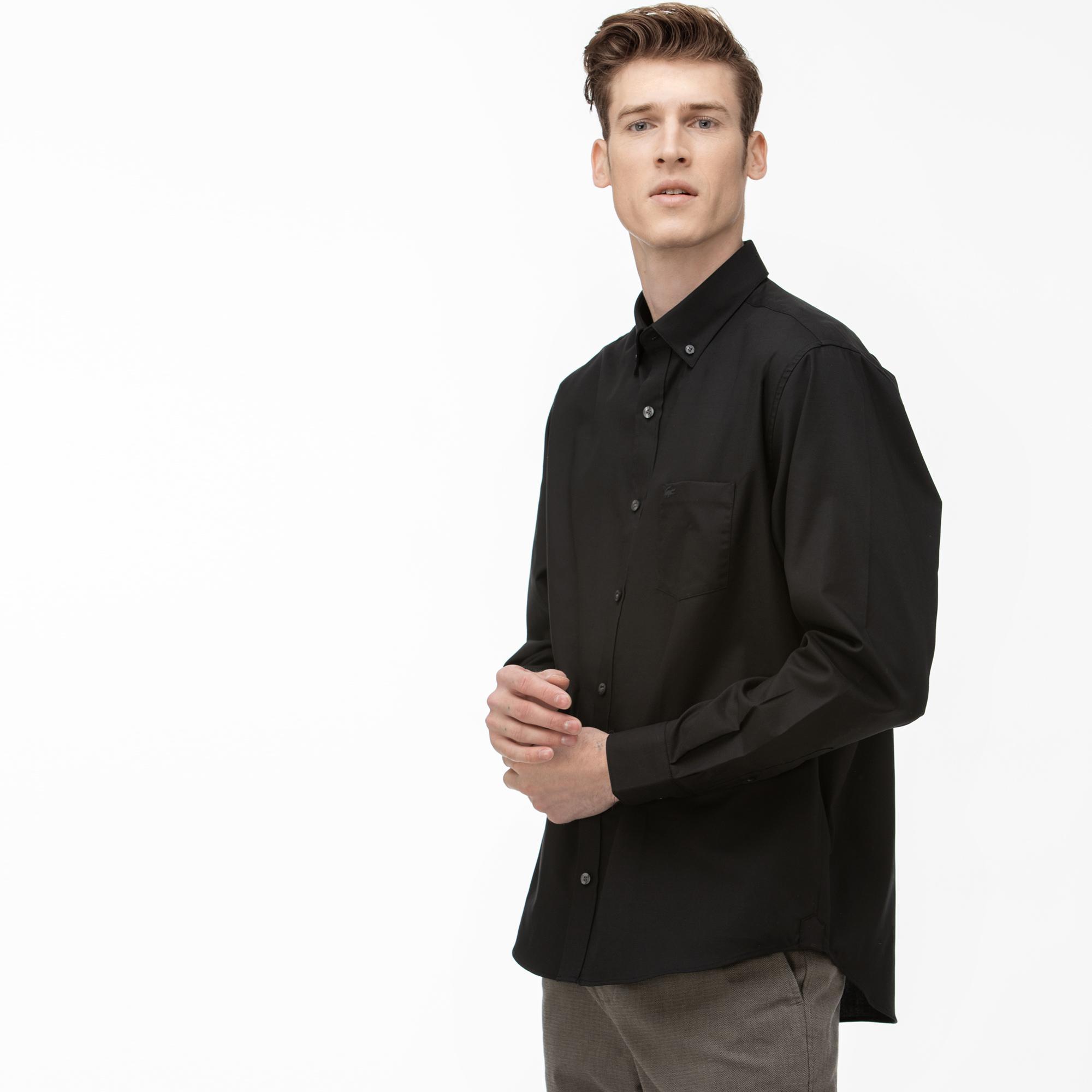 Lacoste Erkek Regular Fit Siyah Gömlek