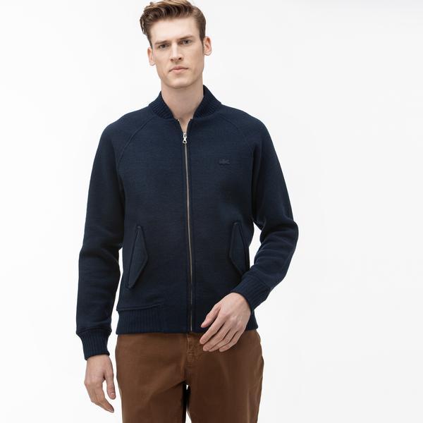 Lacoste Erkek Dik Yaka Lacivert Sweatshirt
