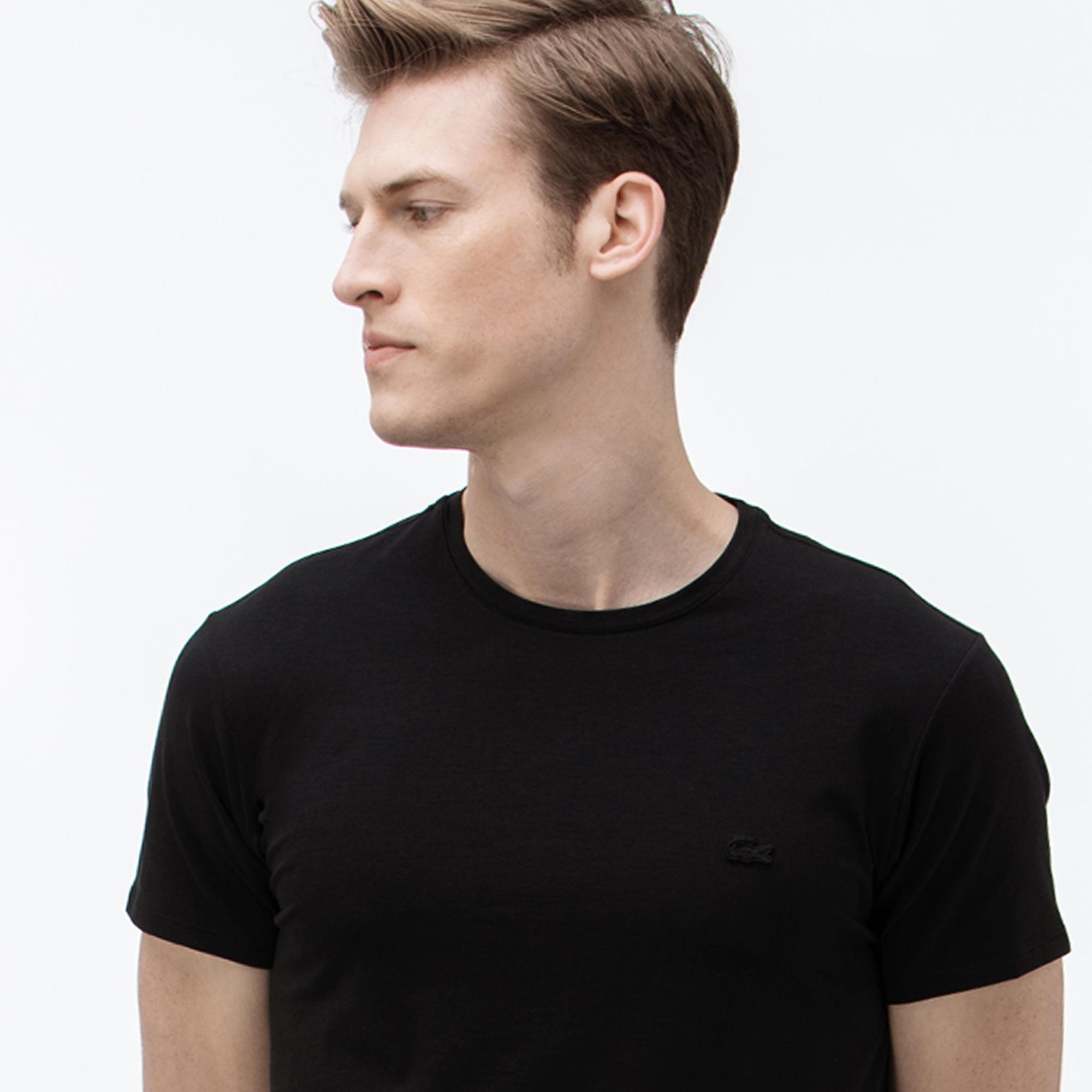Lacoste Erkek Bisiklet Yaka Siyah T-Shirt