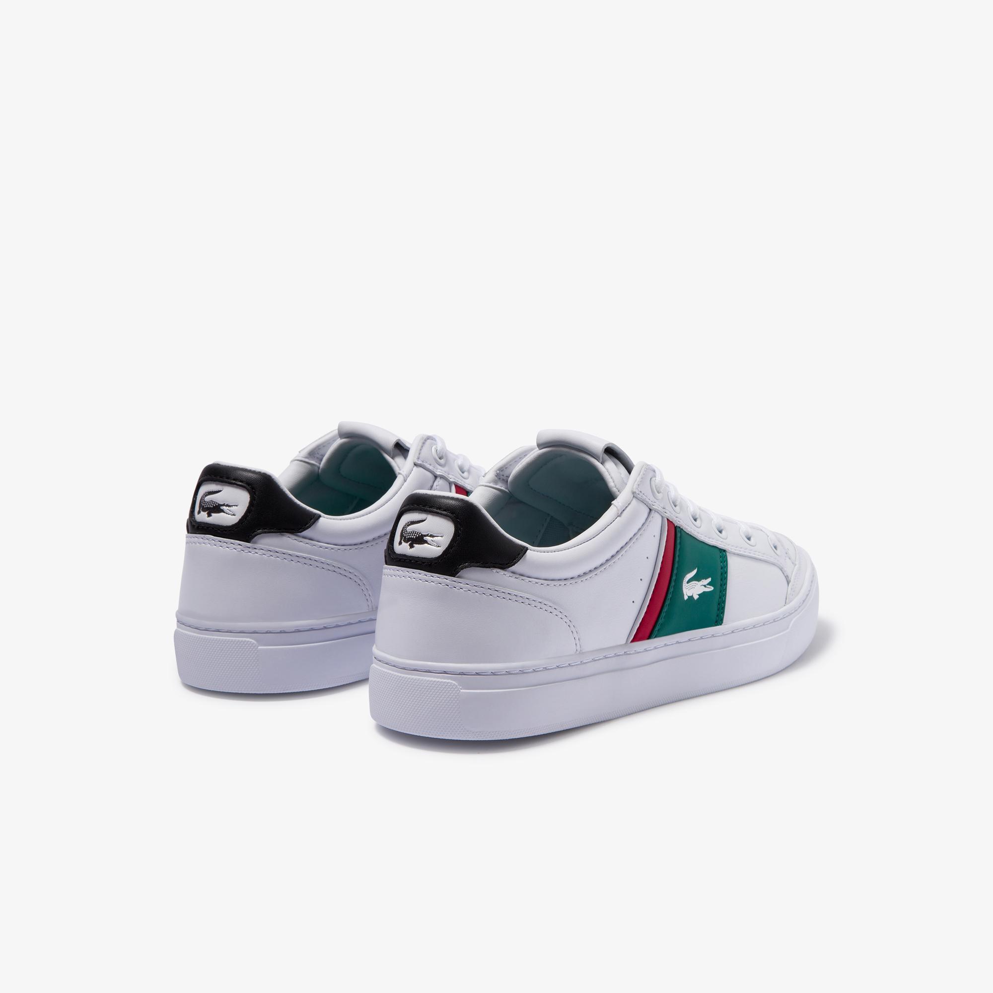 Lacoste Courtline 120 2 Us Cma Erkek Beyaz - Yeşil Deri Casual Ayakkabı