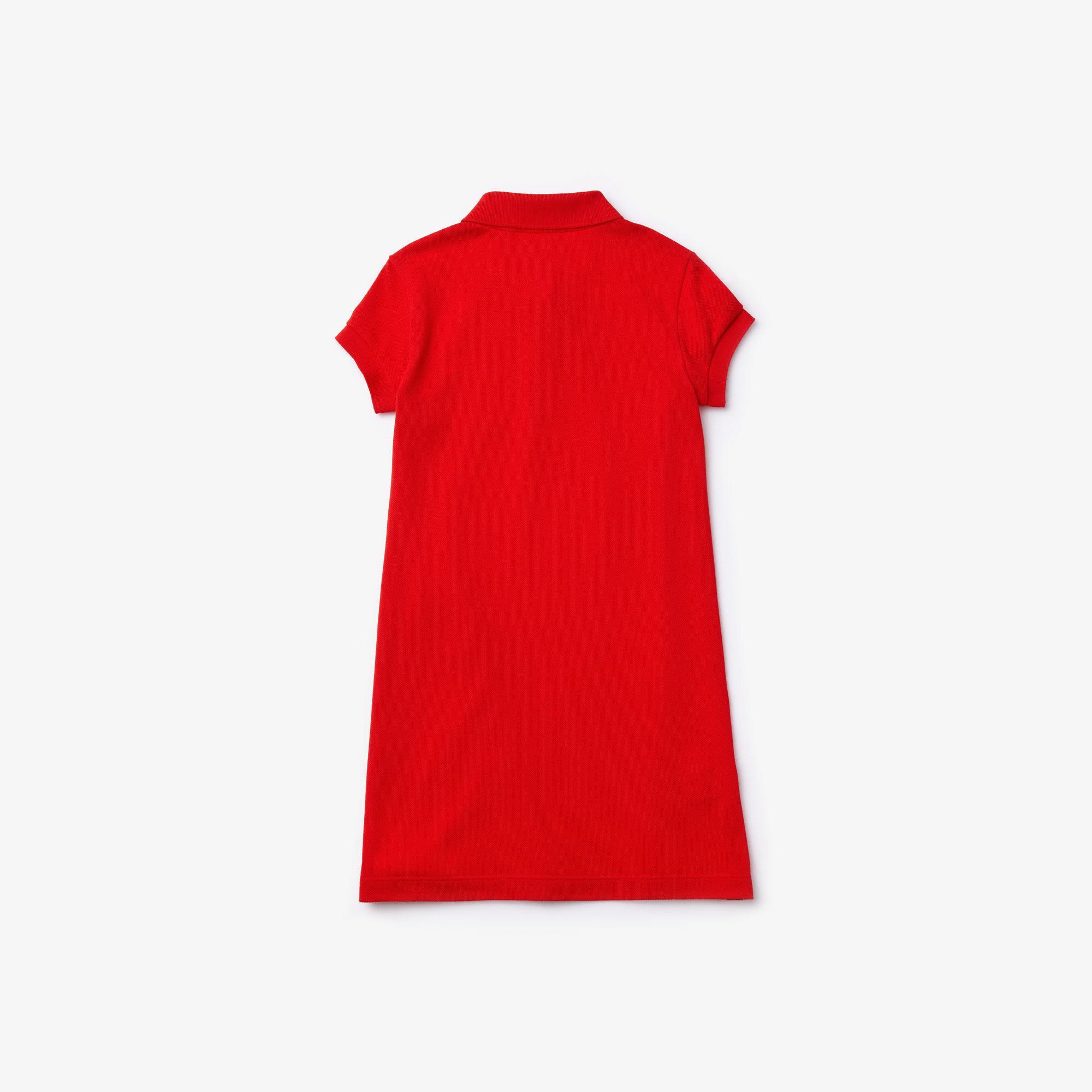 Lacoste Çocuk Kırmızı Polo Yaka Elbise