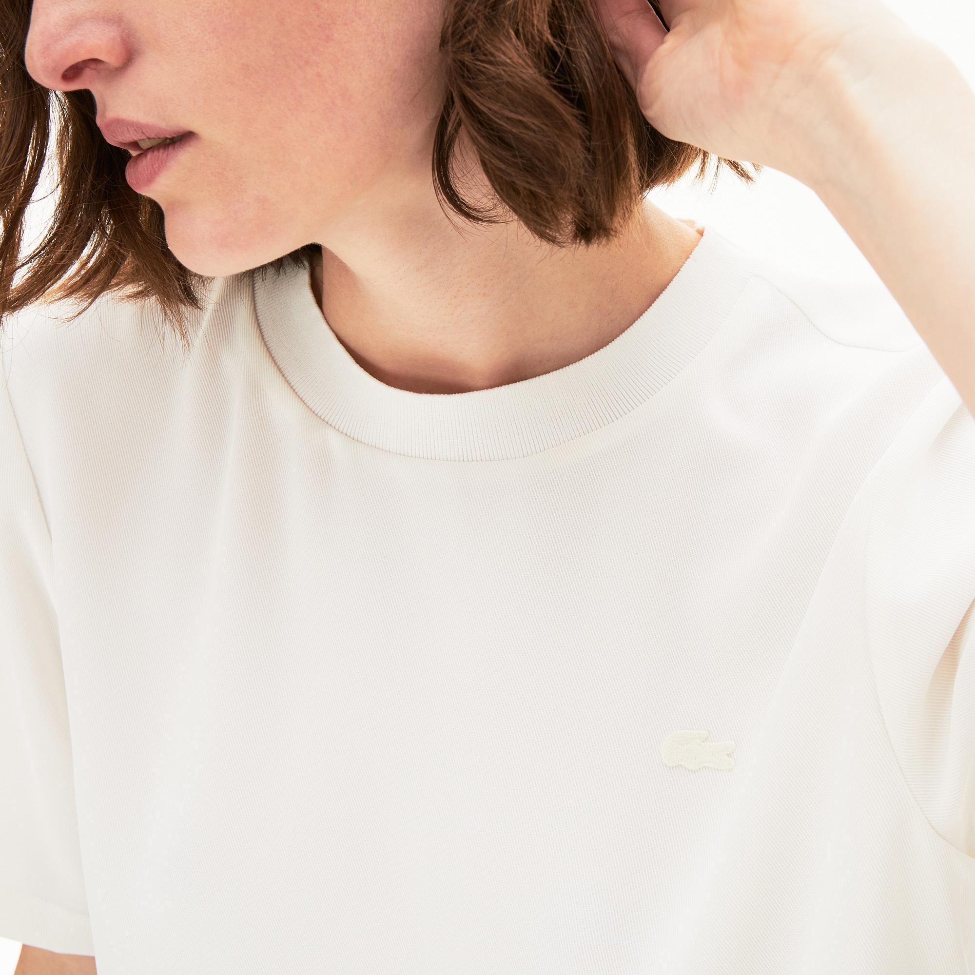 Lacoste Motion Kadın Bisiklet Yaka Kısa Kollu Beyaz Bluz