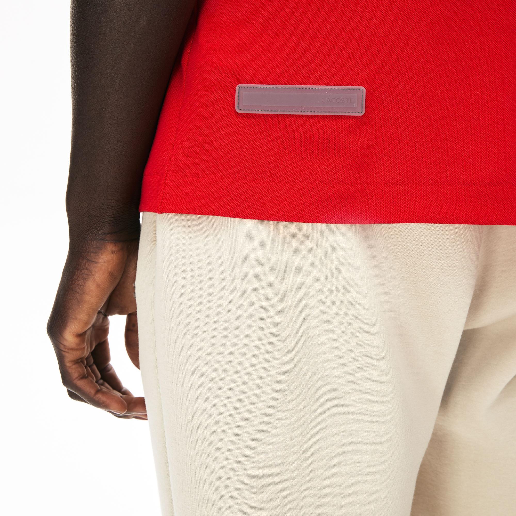 Lacoste Motion Erkek Kırmızı Slim Fit Fermuarlı Yaka Polo