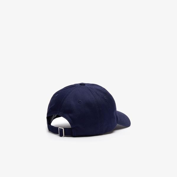 Lacoste Unisex Timsah Baskılı Lacivert Şapka