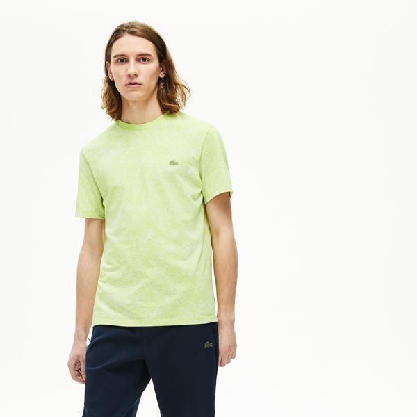 Lacoste Motion Erkek Bisiklet Yaka Açık Yeşil T-Shirt