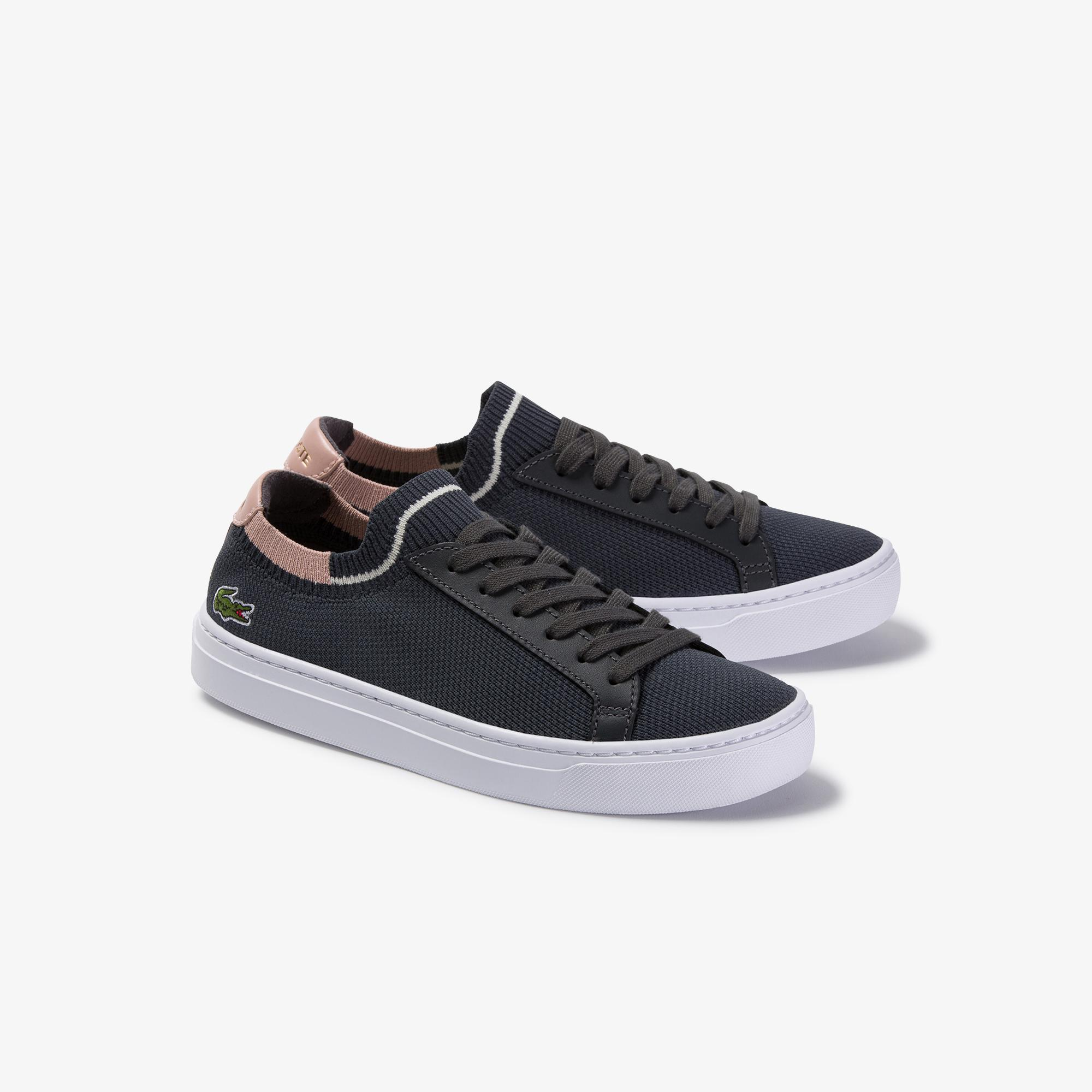 Lacoste La Piquee 120 2 Cfa Kadın Koyu Gri - Pudra Sneaker