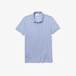Lacoste Erkek Slim Fit Baskılı Açık Mavi Polo