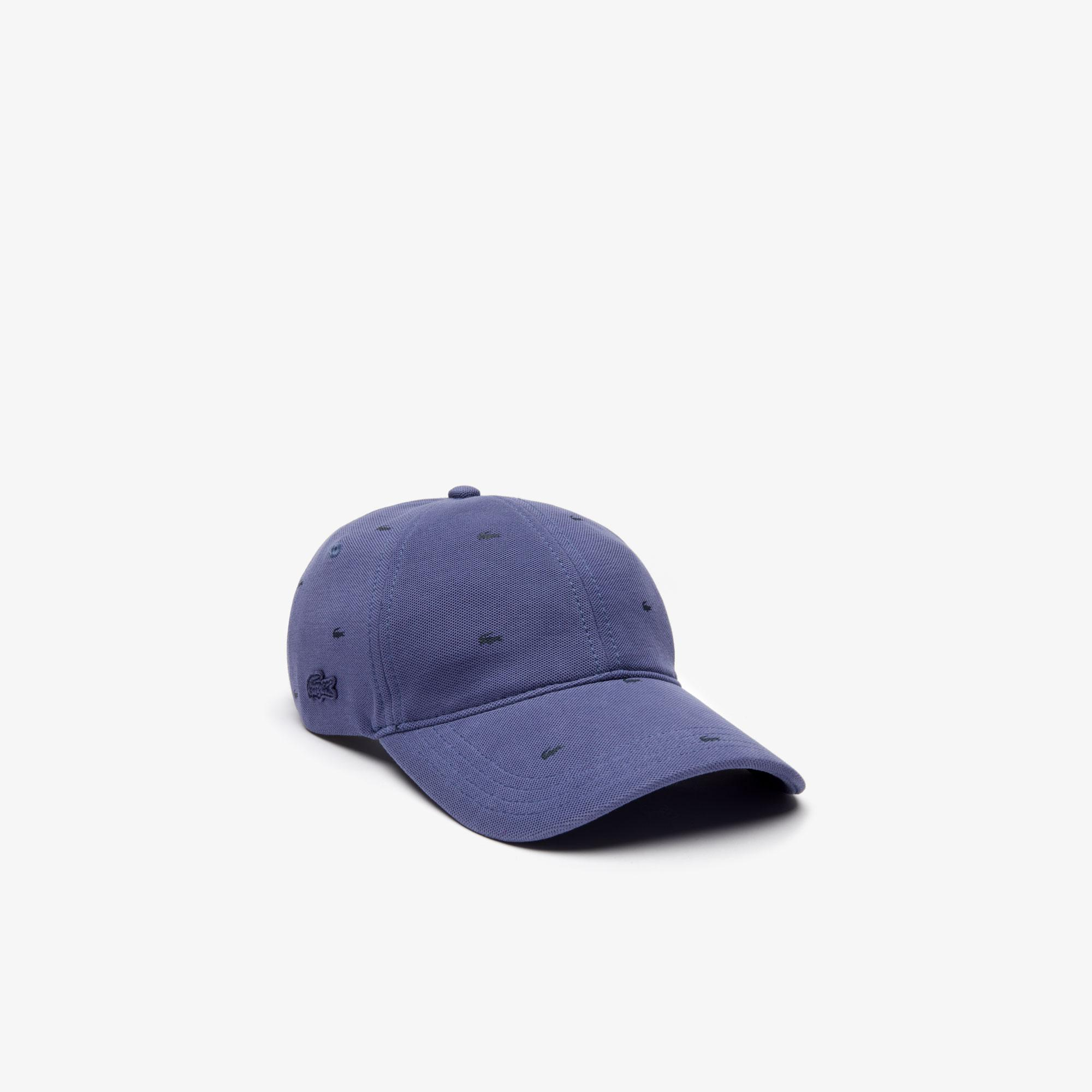 Lacoste Unisex Desenli Mavi Şapka